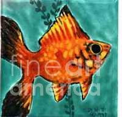 Platy Painting - Red Platy by Dy Witt