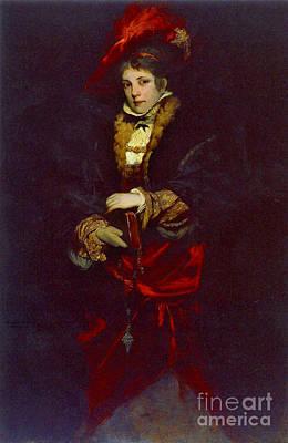 Red Plume 1873 Art Print