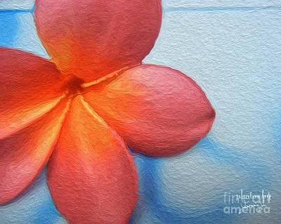 Photograph - Red Plumeria Paint by Jamie Johnson
