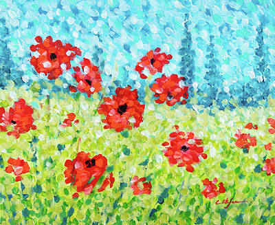 Painting - Red Poppies 002 by Cristina Stefan