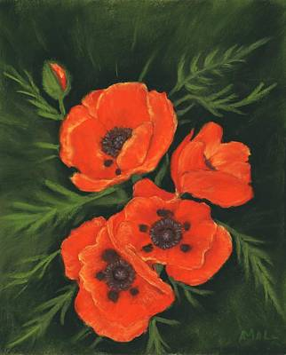 Red Poppies Art Print by Anastasiya Malakhova