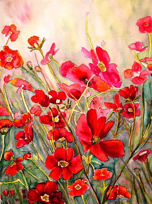 Painting - Red Poppies by Carole Spandau