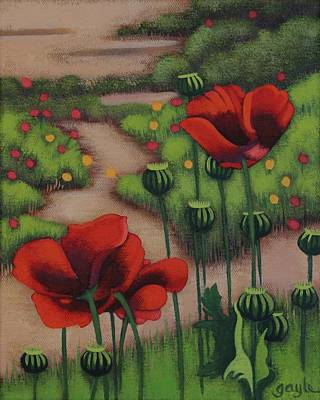 Painting - Red Poppies by Gayle Faucette Wisbon
