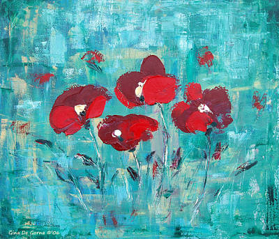 Painting - Red Poppies by Gina De Gorna