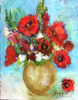 Painting - Red Poppies by Gloria Smith