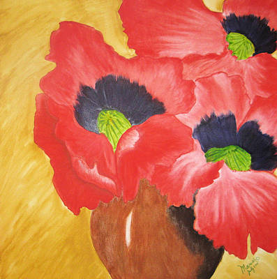 Red Poppies Art Print by Maris Sherwood