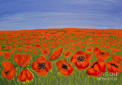 Painting - Red Poppies On Meadow by Irina Afonskaya