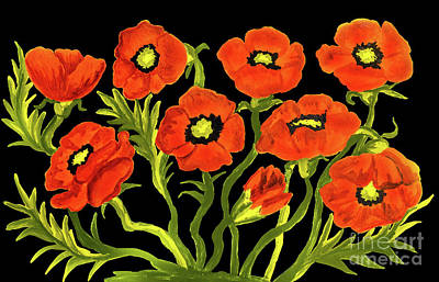 Painting - Red Poppies, Painting by Irina Afonskaya