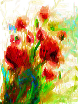Digital Art - Red Poppies by Rafael Salazar