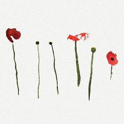 Red Poppies Art Print by Stephanie Peters