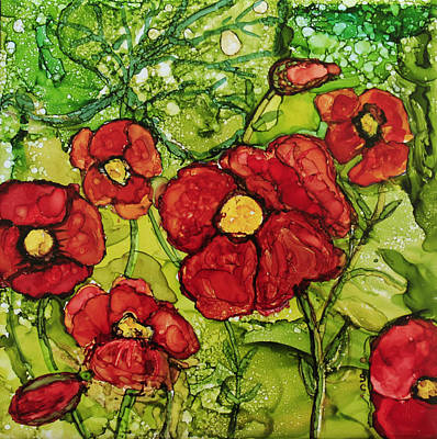 Painting - Red Poppies by Suzanne Canner