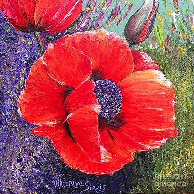 Red Poppies Art Print by Viktoriya Sirris
