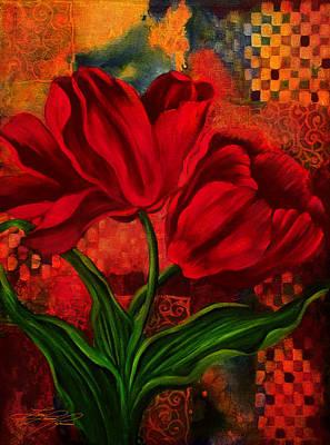 Red Poppy Art Print by Lynn Lawson Pajunen