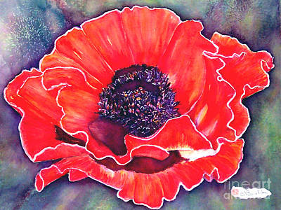 Red Poppy Art Print by Norma Boeckler