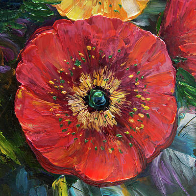 Painting - Red Poppy by Lena  Owens OLena Art