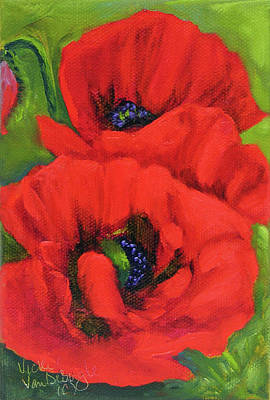 Painting - Red Poppy by Vicki VanDeBerghe