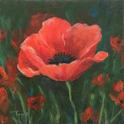 Painting - Red Poppy by Torrie Smiley