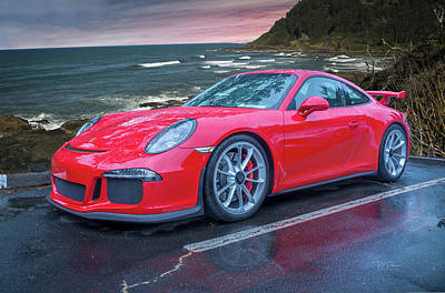 Photograph - Red Porsche by Bill Posner