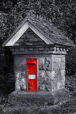 Mail Box Photograph - Red Post Box by Simon Kayne