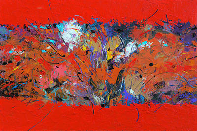 Painting - Red Pressure by Judith Barath