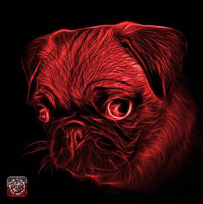 Digital Art - Red Pug -  9567 Fs B by James Ahn