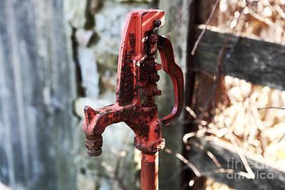 Red Pump Art Print by John Rizzuto