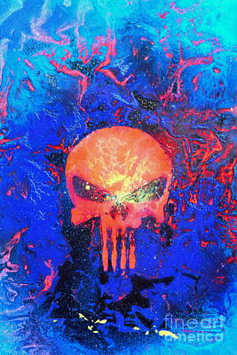 Justin Moore Painting - Red Punish by Justin Moore