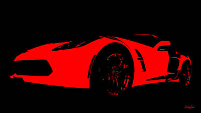 Photograph - Red Race Car by Nathan Little