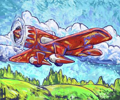 Painting - Red Racing Plane by Tim Gilliland