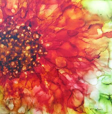 Bright Painting - Red Radience by Louise Adams