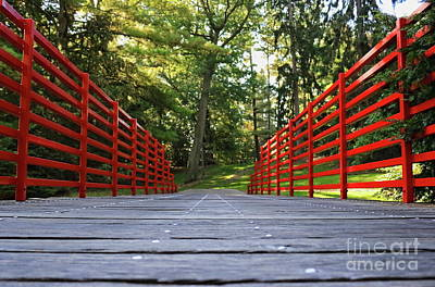 Photograph - Red Rails Bridge by Erick Schmidt