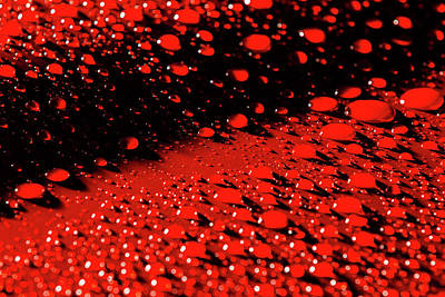 Photograph - Red Rain Abstract by SR Green