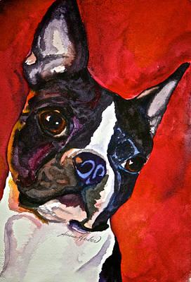Red Rascal Art Print by Susan Herber