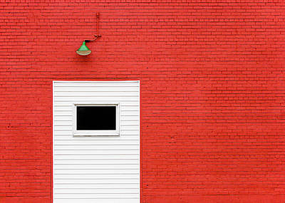 Photograph - Red, Red Wall by Todd Klassy
