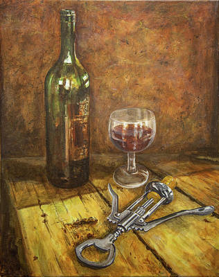 Painting - Red Red Wine by Marty Garland