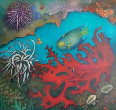Red Reef Art Print