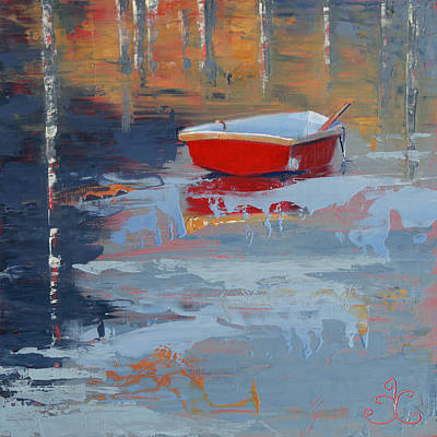 Painting - Red Reflections by Trina Teele