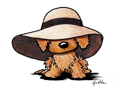 Red Retriever Puppy Print by Kim Niles