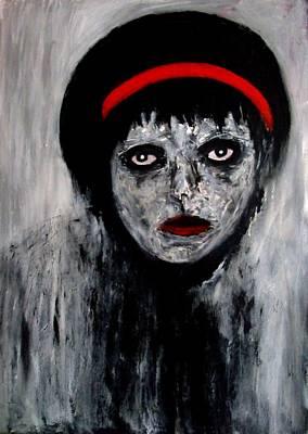 Painting - Red Ribbon by Katerina Apostolakou