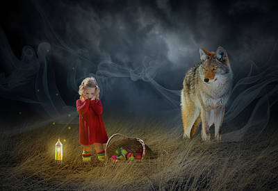 Surrealism Digital Art - Red Riding Hood V2 by Aged Pixel