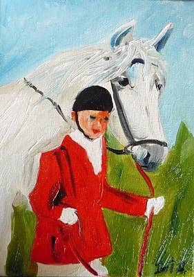 Red Riding Jacket Art Print by Irit Bourla