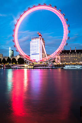 Red Ring On The Embankment Art Print by Matthew Rattcliff