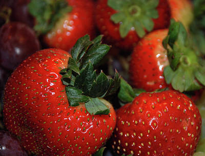 Photograph - Red Ripe Strawberries by Richard Bryce and Family