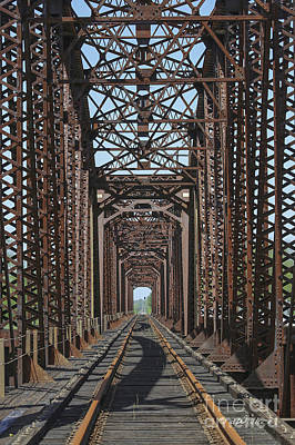 Photograph - Red River Railroad Bridge by D Wallace