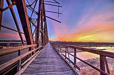 Photograph - Red River Sunrise by JC Findley