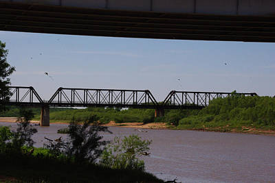 Photograph - Red River Truss Bridge by Robyn Stacey