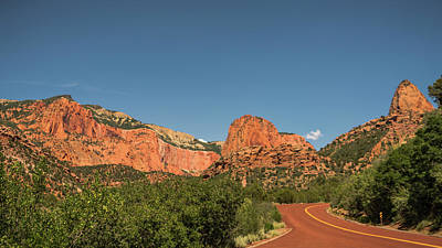 Photograph - Red Road Kolob Canyons Zion National Park Utah by Lawrence S Richardson Jr