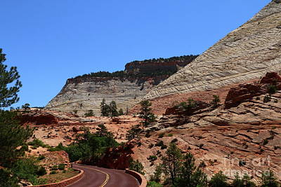 Photograph - Red Road Winding Through Zion Park by Christiane Schulze Art And Photography