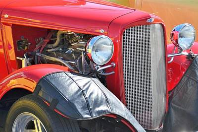 Photograph - Red Roadster by Kim Bemis