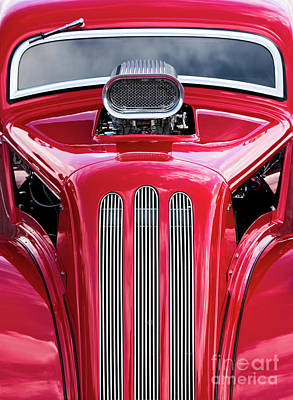 Photograph - Red Roadster by Tim Gainey